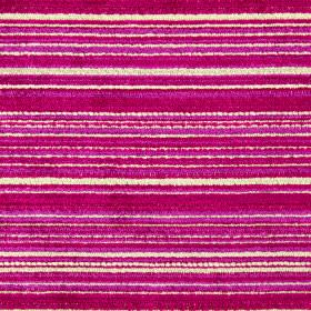Enzo - Magenta - Shocking pink, bright red and cream coloured polyester, acrylic and viscose blend fabric, featuring horizontal stripes