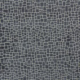Zane - Granite - Fabric made from dark grey coloured crazy paving patterned polyester, acrylic and viscose