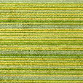 Enzo - Evergreen - Polyester, acrylic and viscose blend fabric with a textured, horizontally striped design in bright shades of lime green