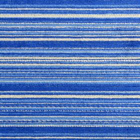 Enzo - Cobalt - Bright blue, cobalt blue and white horizontal stripes texturing fabric combinint polyester, acrylic and viscose