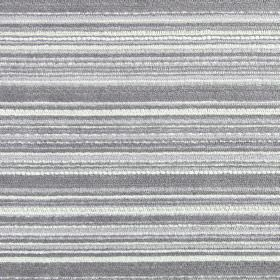 Enzo - Silver - Fabric made from polyester, acrylic and viscose, with a subtly textured striped design in white and light shades of grey