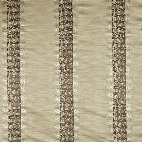 Pride - Savanna - Dark brown-grey and pale silver colour pixellated stripes creating a vertical design on 100% polyester fabric inpewter