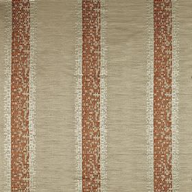Pride - Tiger - Fabric made from 100% polyester, featuring a pixellated vertical stripe design in white, pale grey-beige and brick red