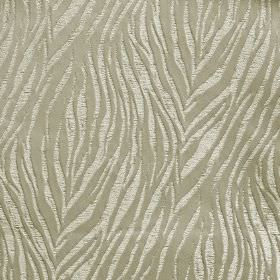 Tiger - Ivory - 100% polyester fabric printed with a rough animal stripe style pattern in two different light shades of grey