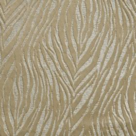 Tiger - Savanna - Beige fabric made from 100% polyester, featuring a roughly printed animal stripe design in very pale grey