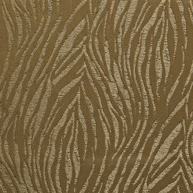 Tiger - Sand - Fabric made from 100% polyester in pewter and coffee brown shades, with a roughly printed animal stripe style design