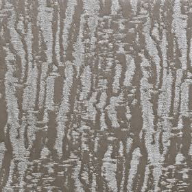 Dune - Dove - Rough, uneven, blurred lines creating a random pattern in 2 different shades of grey on fabric made from 100% polyester