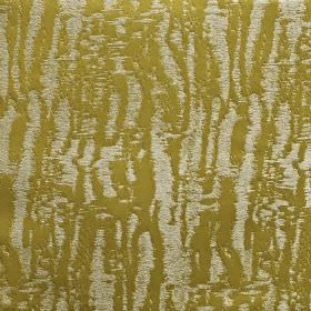 Dune - Cactus - Fabric made from 100% polyester with a random, rough, uneven blurred line pattern in gold and light silver