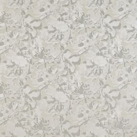 Juma - Silver - Subtle, abstract patterns covering polyester and cotton blend fabric in two similar light shades of grey