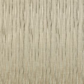 Kasan - Taupe - Dark and light grey streaking lines running vertically down light grey-beige polyester and cotton blend fabric