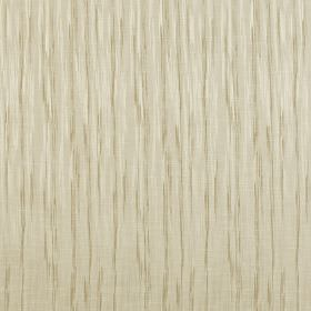 Kasan - Champagne - Very pale grey polyester & cotton blend fabric featuring vertical streaking lines in a slightly darker grey-beige shade