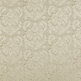 Chinaz - Champagne - Oyster coloured polyester and cotton blend fabric featuring a very subtly but ornate pattern