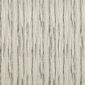Kasan - Onyx - Pale grey polyester and cotton blend fabric featuring a pattern of vertical streaks in white and dark grey-blue