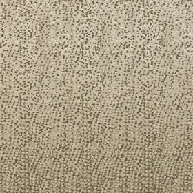 Termez - Taupe - Tiny dark grey dots scattered randomly over a stone coloured polyester and cotton blend fabric background