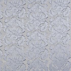 Chinaz - Sky - Elegant, luxurious powder blue coloured polyester and cotton blend fabric, featuring a very subtle, ornate pattern