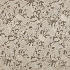 Juma - Taupe - Abstract dark grey patterns covering dove grey coloured polyester and cotton blend fabric