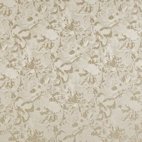 Juma - Champagne - Subtly patterned polyester and cotton blend fabric, featuring an abstract design in oyster, pale grey and beige shades