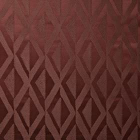 Jive - Paprika - Diamond patterned fabric made from 100% polyester in two shades of dark, dusky pink, featuring a simple, stylish design