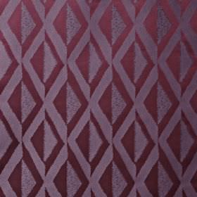 Jive - Orchid - Fabric made from lavender and violet coloured 100% polyester, featuring a stylish, simple diamond pattern