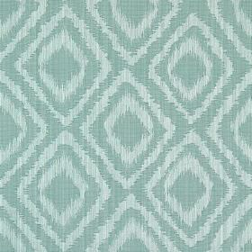 Castello - Azure - Azure blue fabric with double diamond impression pattern