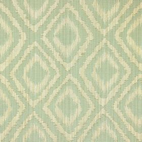 Castello - Celedon - Celadon green fabric with double diamond impression pattern