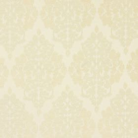 Rivoli - Oyster - Oyster white fabric with classic diamond foliage grid