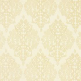 Rivoli - Parchment - Parchment white fabric with classic diamond foliage grid