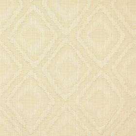 Castello - Parchment - Parchment white fabric with double diamond impression pattern