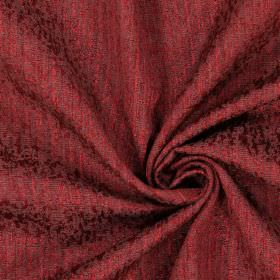 Piazza - Bordeaux - Plain bordeaux red fabric