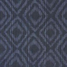 Castello - Royal - Royal black fabric with double diamond impression pattern