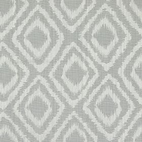 Castello - Silver - Silver grey fabric with double diamond impression pattern