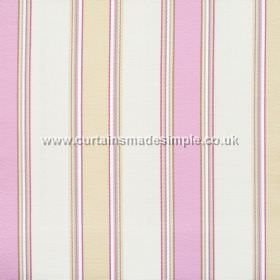 Purbeck - Fuchsia - Fuchsia pink and yellow striped fabric