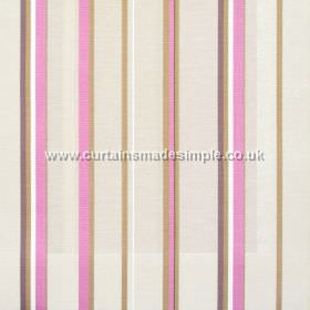Poole Harbour - Fuchsia - Narrow fuchsia pink stripes with white bands