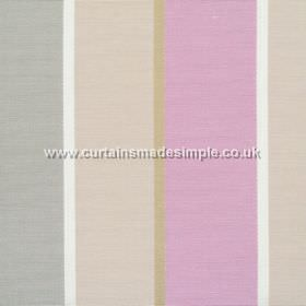 Lymington - Fuchsia - Wide fuchsia pink and sandy striped fabric