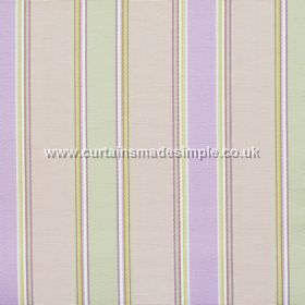 Purbeck - Lavender - Lavender purple and light green striped fabric