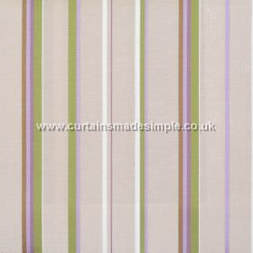 Poole Harbour - Lavender - Fabric with narrow lavender purple stripes with light brown bands