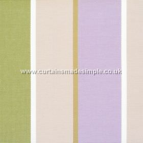 Lymington - Lavender - Wide lavender purple and sandy striped fabric