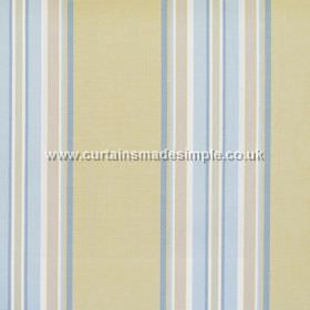 Peveril Point - Celedon - Narrow celedon blue stripes on green fabric