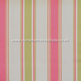 Purbeck - Blossom - Blossom pink and green striped fabric
