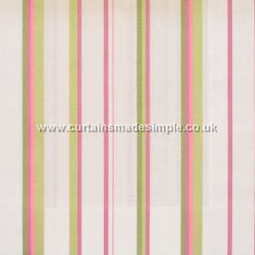 Poole Harbour - Blossom - Fabric with narrow blossom pink stripes with white bands