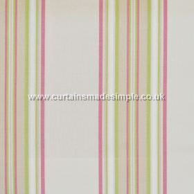 Peveril Point - Blossom - Narrow blossom pink stripes on grey fabric