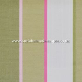 Lymington - Blossom - Wide green and narrow pink striped fabric
