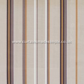Poole Harbour - Latte - Fabric with narrow brown stripes with latte brown bands
