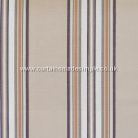 Peveril Point - Latte - Narrow brown stripes on latte brown fabric