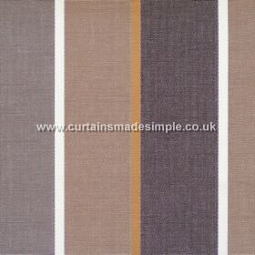 Lymington - Walnut - Wide walnut brown and brown striped fabric