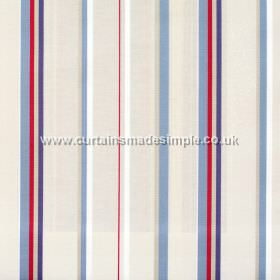 Poole Harbour - Nautical - Narrow nautical blue stripes with white bands