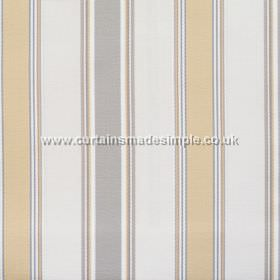 Purbeck - Sandstone - Sandstone brown and grey striped fabric
