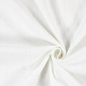 Saxon - Snow - Plain fabric made in a paper white colour