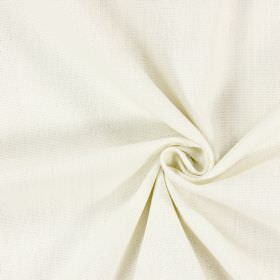 Saxon - Oyster - Plain milky white coloured fabric which has been woven