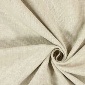 Saxon - Vellum - Unpatterned, woven fabric in a cream-beige colour